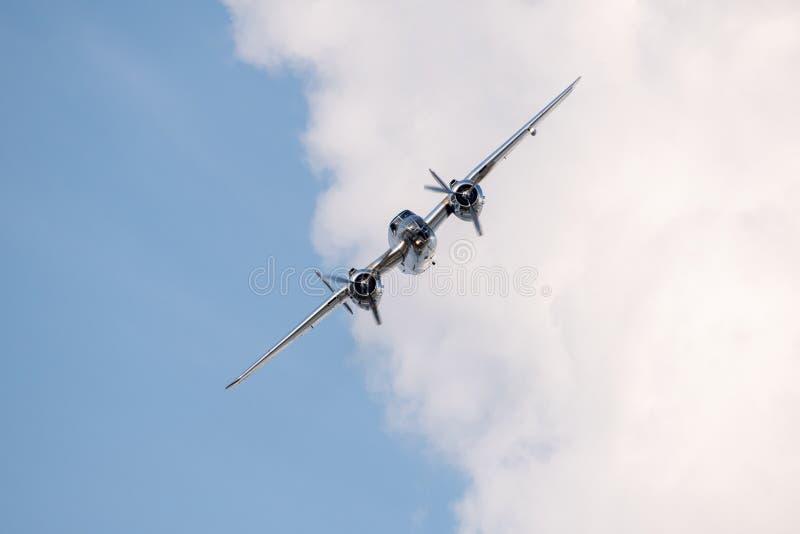 Bucharest international air show BIAS, NORTH AMERICAN B-25J `MITCHELL` flying bulls team stock images
