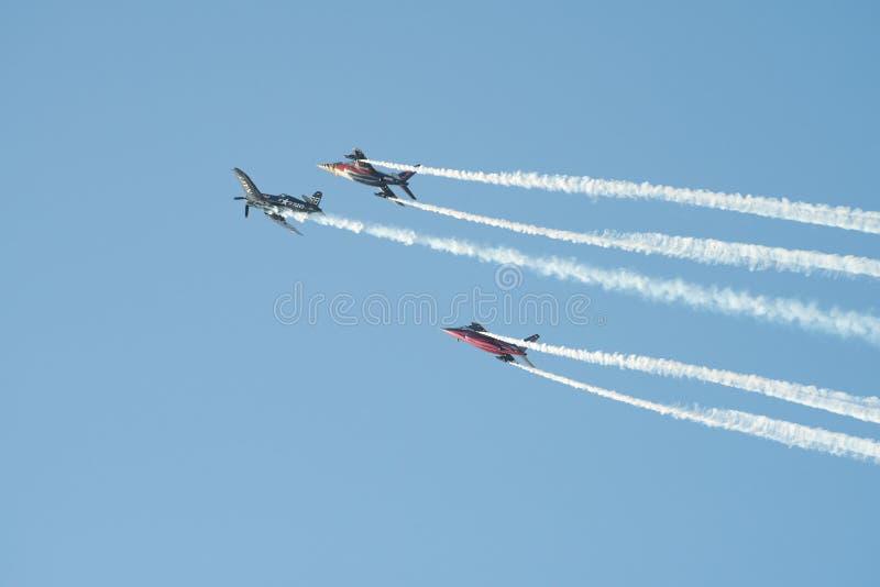 Bucharest international air show BIAS, Flying Bulls team display royalty free stock image