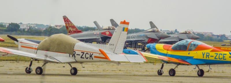 bucharest international air show 2016 ,civil and military air show from Bucharest, Romania stock photos