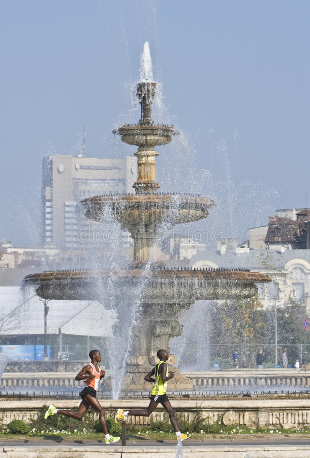 Bucharest International Marathon stock photography