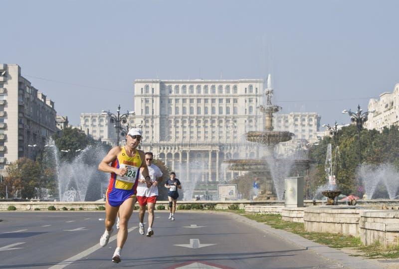 Bucharest international marathon stock image