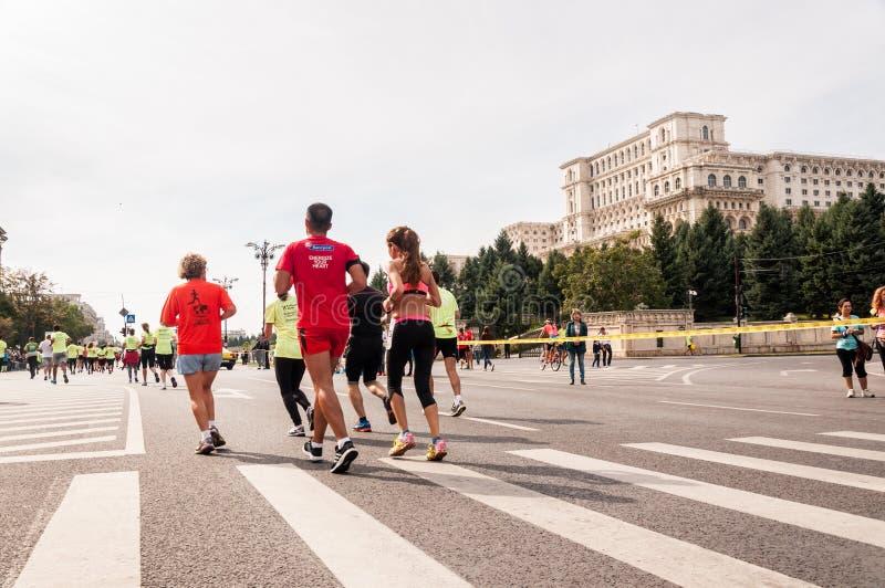Bucharest Internationalmaraton 2015 fotografering för bildbyråer