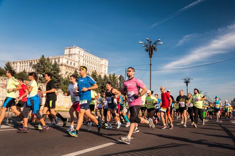 Bucharest Internationalmaraton 2015 royaltyfri foto