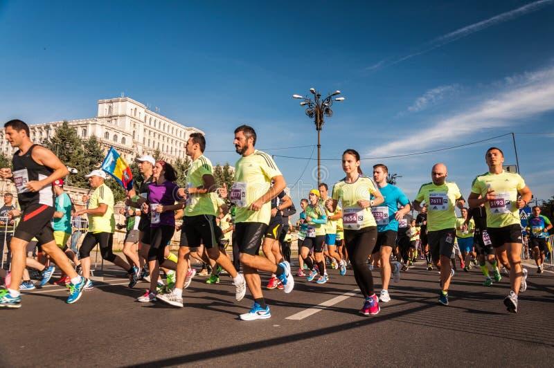 Bucharest Internationalmaraton 2015 arkivfoto