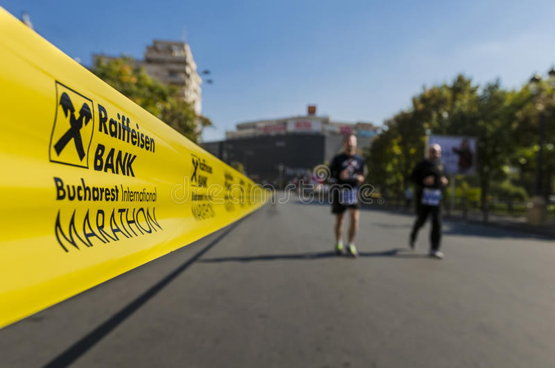 Bucharest internationell maraton 2014 arkivfoton