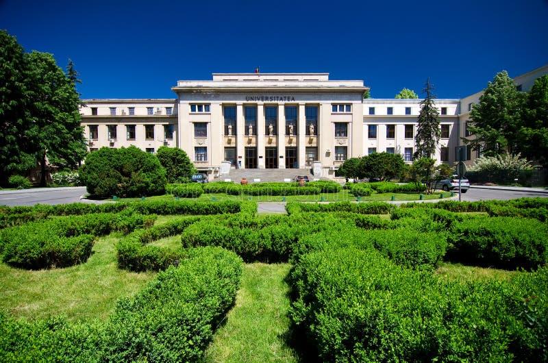 Bucharest - juridisk fakultet arkivbilder