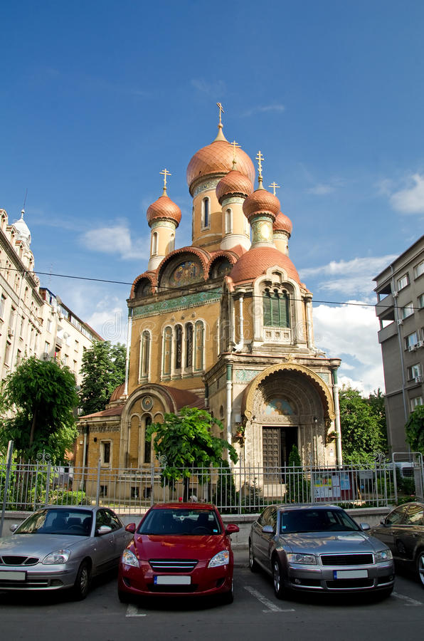 bucharest kyrklig ryss arkivfoto