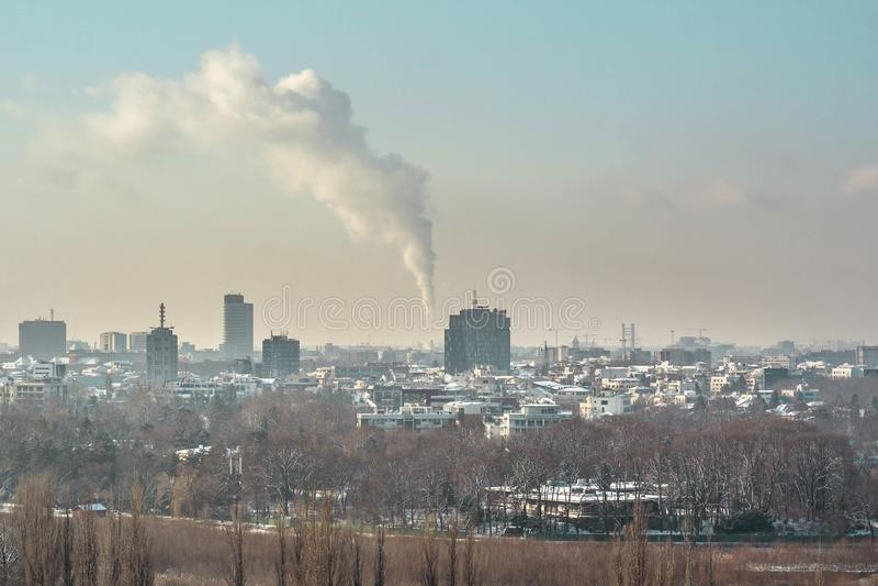 Bucharest linia horyzontu obrazy royalty free