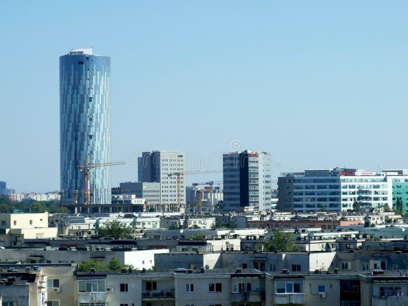 Bucharest linia horyzontu zdjęcie stock