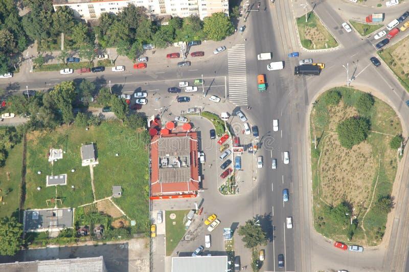 Bucharest-Luftaufnahme lizenzfreie stockbilder