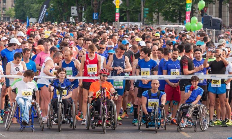 Bucharest Międzynarodowy Przyrodni maraton 2015 obraz royalty free
