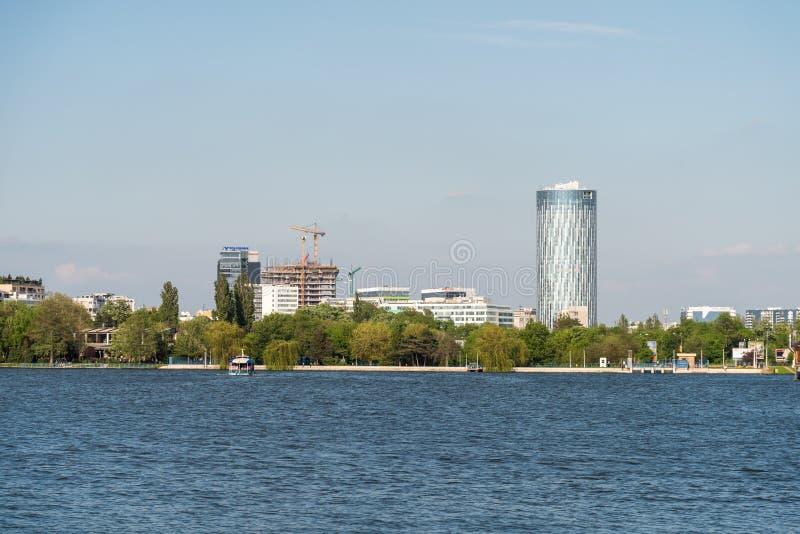 Bucharest miasta linii horyzontu widok zdjęcie royalty free