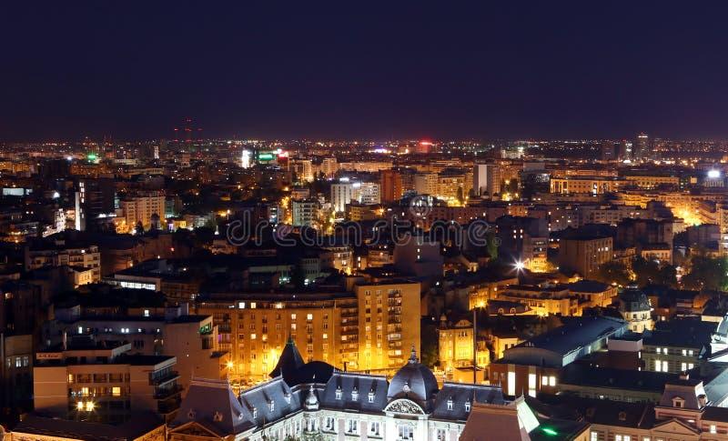Bucharest miasto nocą obraz royalty free