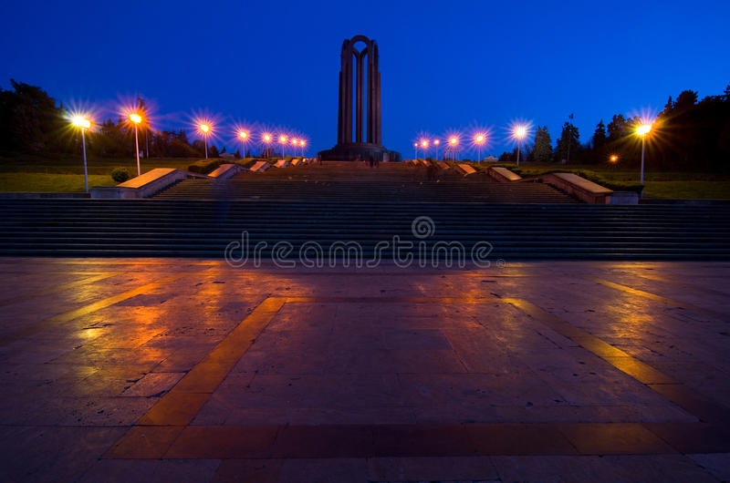 Bucharest by night - Carol Park royalty free stock image
