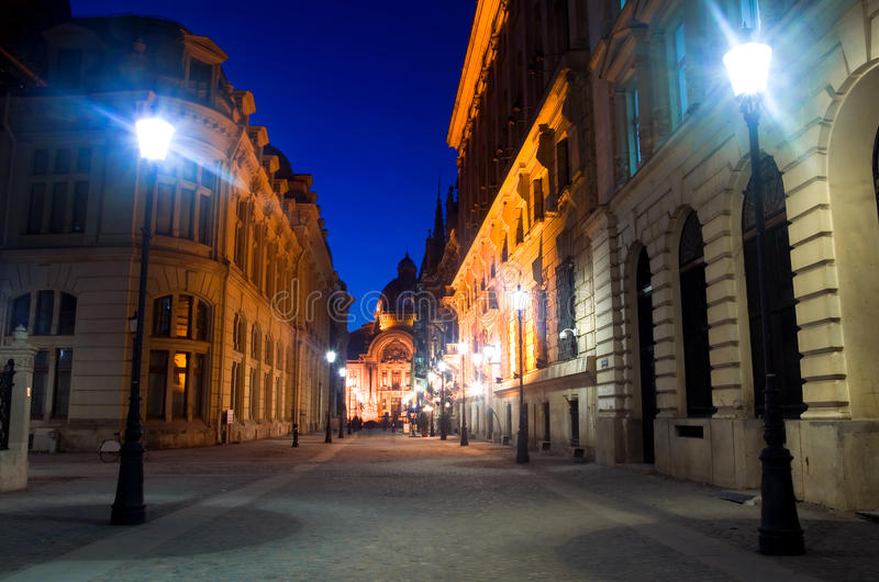 Download Bucharest By Night - The Historic Centre Stock Photos - Image: 22238643