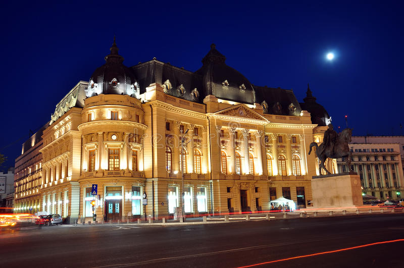 Download Bucharest night scene 4 editorial stock image. Image of european - 26838479