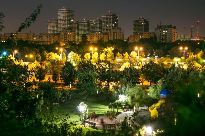 Bucharest nightview stock photos