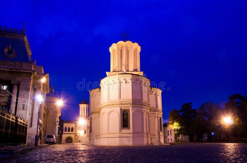 Bucharest noc - Patriarchalna Katedra obrazy stock