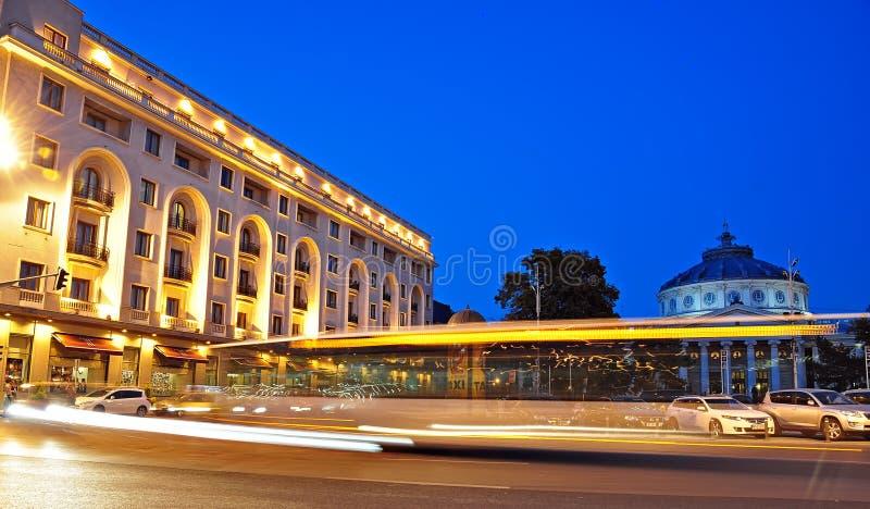Bucharest noc scena (1) obraz royalty free
