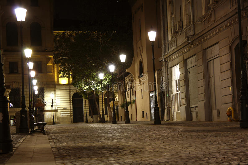 Download Bucharest Old Town At Night (Romania) Stock Photo - Image: 33538848