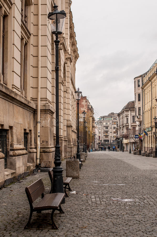 Bucharest old town royalty free stock photography