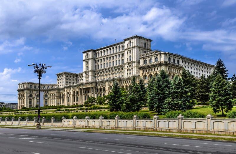 Bucharest, Palace of Parliament, Romania stock photo