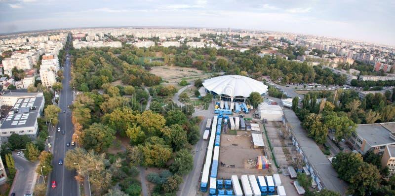 Bucharest panoramic view stock photo