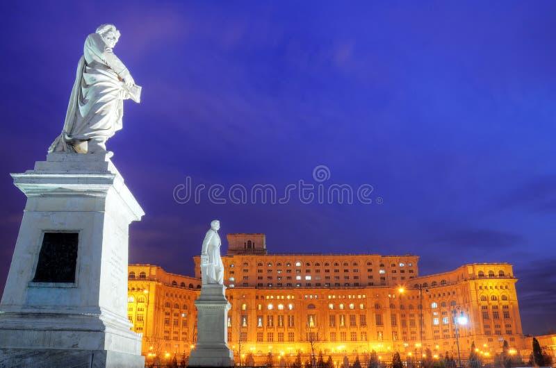 Bucharest - Parlamentspalast lizenzfreies stockfoto