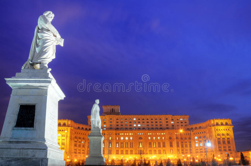 Bucharest - Parliament palace royalty free stock photo