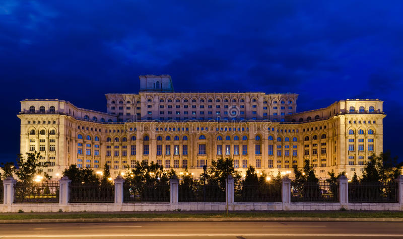 Bucharest, Parliament Palace royalty free stock image
