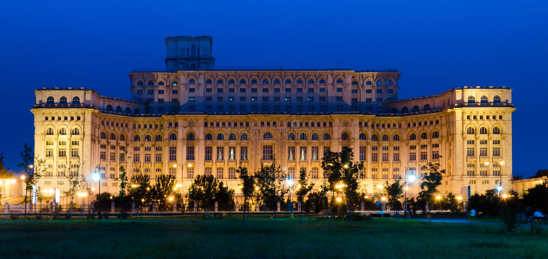 Bucharest, Parliament Palace stock image