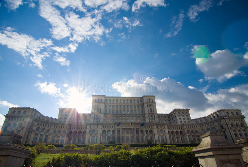 Bucharest - Parliament palace stock photo
