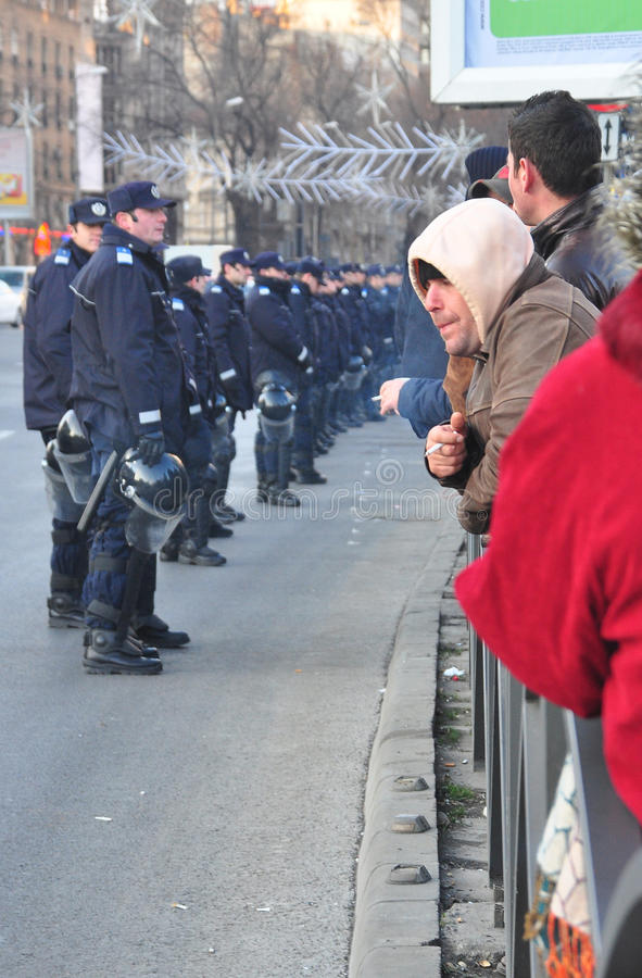 Download Bucharest Protest editorial stock photo. Image of human - 22849668