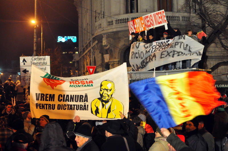 Download Bucharest Protests - 19 January 2012 - 25 Editorial Photography - Image: 22929612