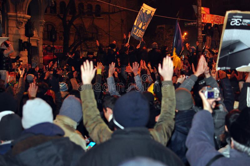 Bucharest Protests - 19 January 2012 - 4 Editorial Photo