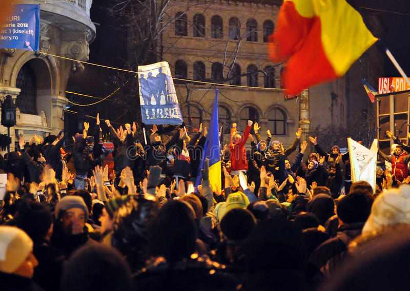 Download Bucharest Protests - 19 January 2012 - 7 Editorial Image - Image: 22928285