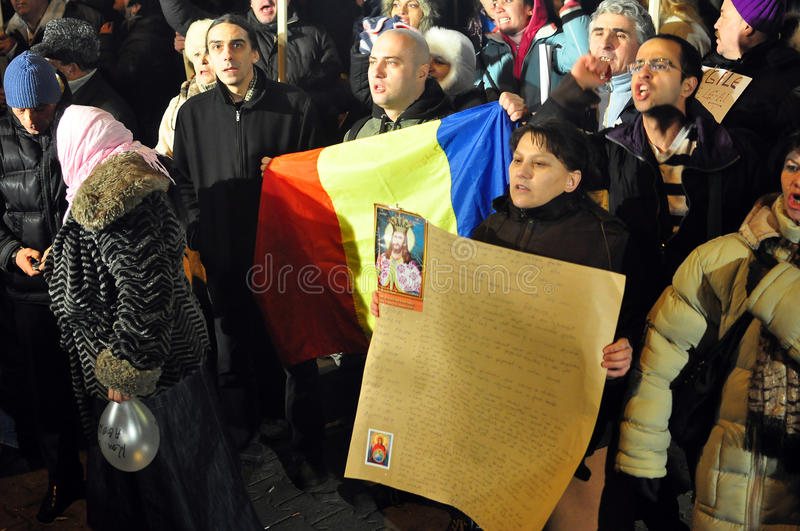 Download Bucharest Protests - 19 January 2012 - 9 Editorial Stock Image - Image: 22928389