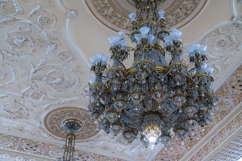BUCHAREST/ROMANIA - 21-ОЕ СЕНТЯБРЯ: Внутренний взгляд дворца o стоковое изображение