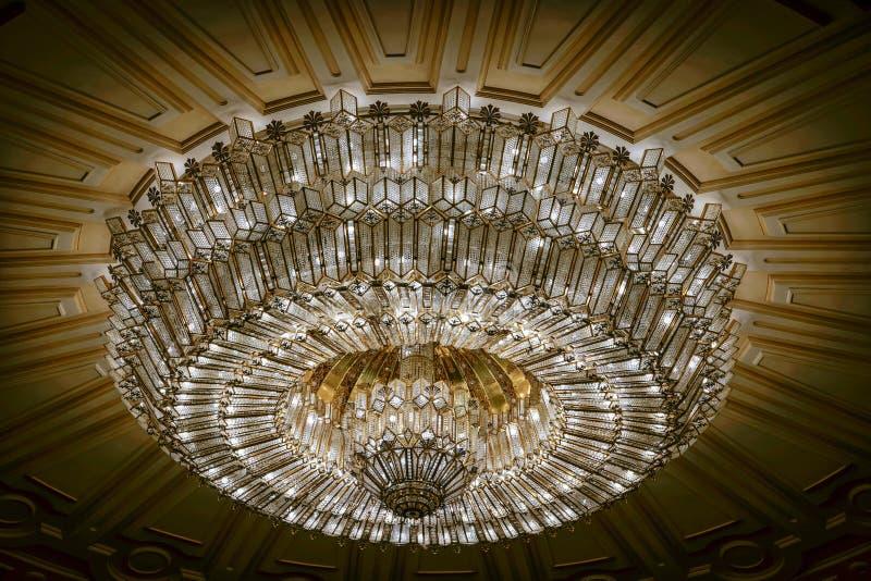 BUCHAREST/ROMANIA - 21-ОЕ СЕНТЯБРЯ: Внутренний взгляд дворца o стоковое фото