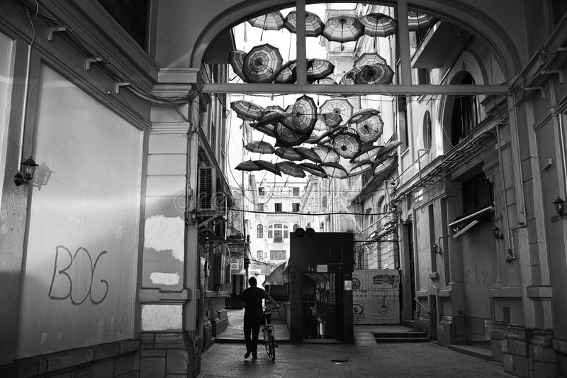 Victory Passage , Bucharest, Romania royalty free stock images
