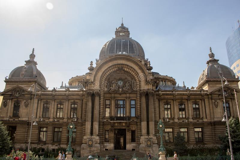 The CEC Palace in Bucharest. royalty free stock photography