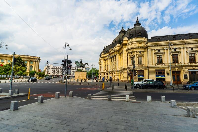 Bucharest, Romania - 2019. Carol I University foundation and Central University Library of Bucharest, Romania royalty free stock images