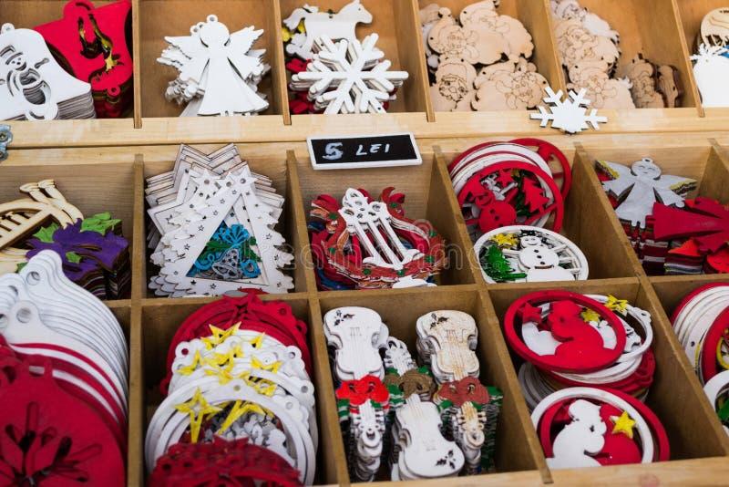 Christmas tree figurines stock photography