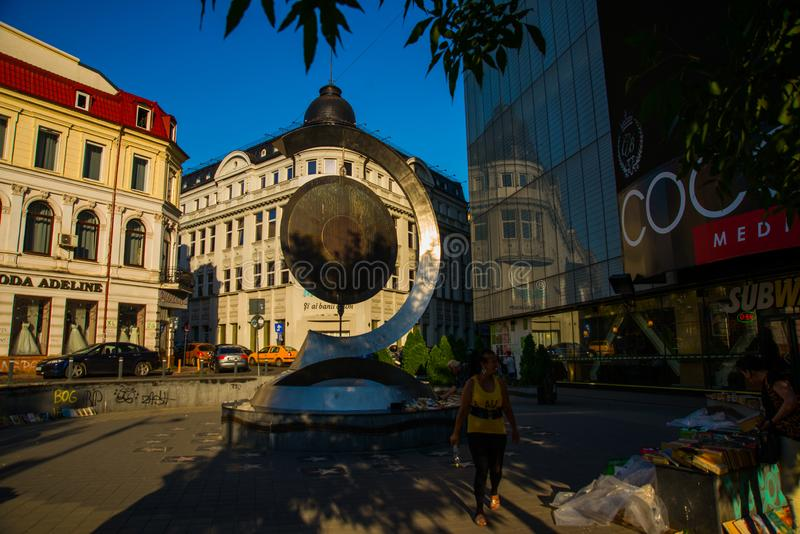 Bucharest, Romania, Europe: Beautiful historic building in the center of the city stock photography