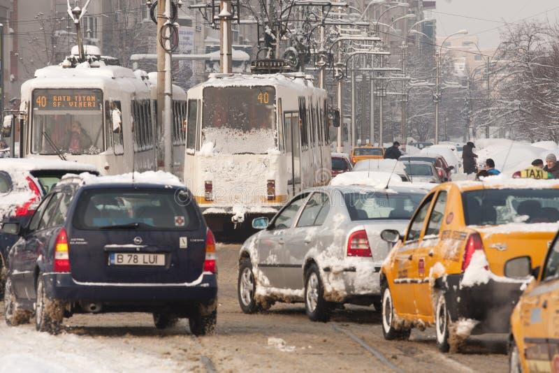 Bucharest Romania February 14 Weather Anomalies Editorial Photography Image Of Rain Cars 23367637