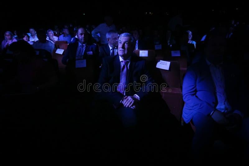 Romania politics - Social Democratic Party congress. Bucharest, Romania - June 29, 2019: Calin Popescu Tariceanu, leader of Liberal Democrat Alliance ALDE royalty free stock photography