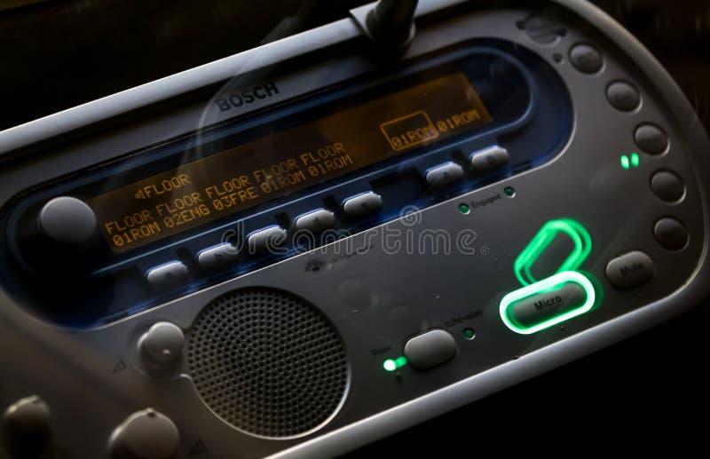 Interpreter Desk audio equipment. Bucharest, Romania - October 23, 2018: A Bosch DCN‑IDESK Interpreter Desk audio equipment used by translators during royalty free stock photos