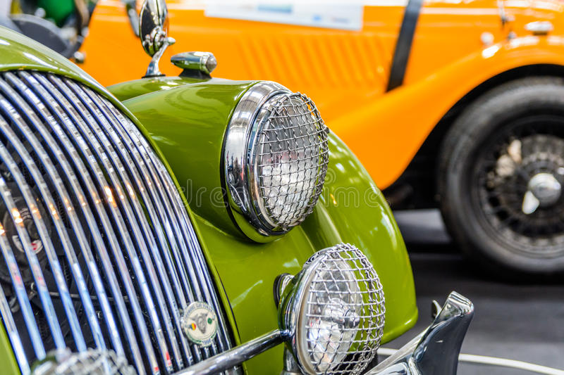 Bucharest, Romania - October 10, 2015: Romaero Baneasa.The Bucharest Automotive Show, is one of the biggest public business. Showcase platforms for the royalty free stock photography