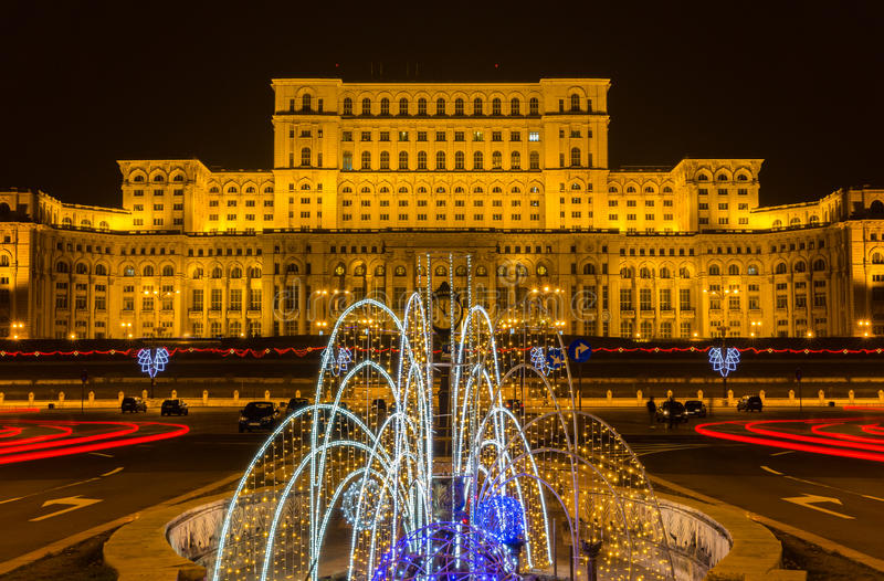 Bucharest, Romania. The Palace of the Parliament in Bucharest, Romania