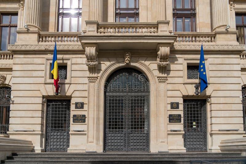 BUCHAREST/ROMANIA - 21. SEPTEMBER: Hauptsitze von National Bank lizenzfreies stockbild